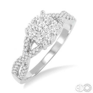 Ashi Diamonds 14k White Gold Lovebright Collection Diamond Ring - 19495DJFVWG-LE