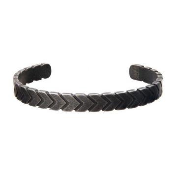 Inox Black Stainless Steel Cuff Bracelet