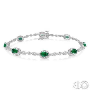 Ashi Diamonds 10k White Gold Gemstone & Diamond Bracelet - 76859DJTSEMWG