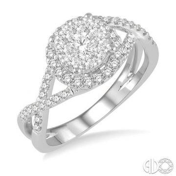 Ashi Diamonds 14k White Gold Lovebright Collection Diamond Ring - 19883DJFVWG-LE