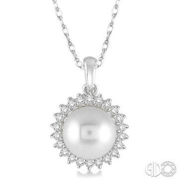 Ashi Diamonds 14k White Gold Diamond & Pearl Pendant - 56807DJFHPDWG