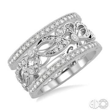 Ashi Diamonds 14k White Gold Diamond Stackable Ring - 37503DJFNWG-BS