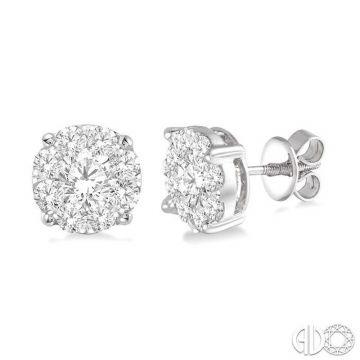 Ashi Diamonds 14k White Gold Lovebright Collection Studs Diamond Earrings - 91750DJFVERWG-1.50