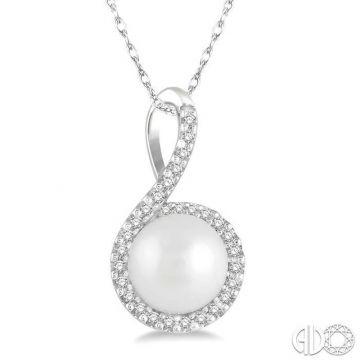 Ashi Diamonds 10k White Gold Diamond & Pearl Pendant - 56848DJTSPDWPWG