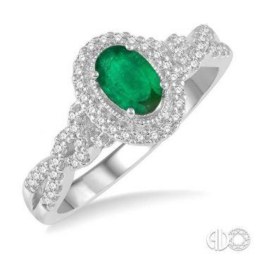 Ashi Diamonds 10k White Gold Diamond & Gemstone Ring - 42707DJTSEMWG