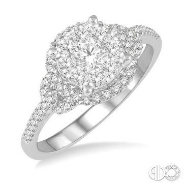 Ashi Diamonds 14k White Gold Lovebright Collection Diamond Ring - 19483DJFVWG-LE