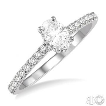 Ashi Diamonds 14k White Gold Straight Diamond Engagement Ring - 259J3DJFHWG-LE-OV