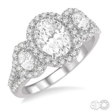 Ashi Diamonds 14k White Gold 3 Stone Diamond Engagement Ring - 267K0DJFHWG-LE-1.55