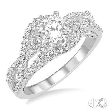 Ashi Diamonds 14k White Gold Free Form Diamond Engagement Ring - 253D2DJFHWG-LE
