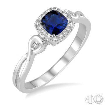 Ashi Diamonds 10k White Gold Diamond & Gemstone Ring - 42648DJTSSPWG