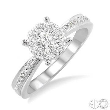 Ashi Diamonds 14k White Gold Lovebright Collection Diamond Ring - 19423DJFVWG-LE