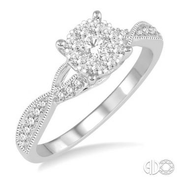 Ashi Diamonds 14k White Gold Lovebright Collection Diamond Ring - 159C3DJFVWG-LE