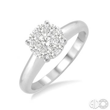 Ashi Diamonds 14k White Gold Lovebright Collection Diamond Ring - 36908DJFHWG