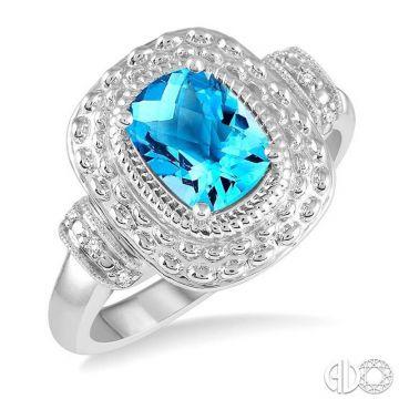 Ashi Diamonds Sterling Silver Diamond & Gemstone Ring - 88749DJSSBTSLRG