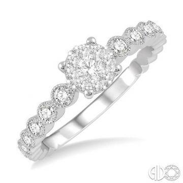 Ashi Diamonds 14k White Gold Lovebright Collection Diamond Ring - 146D5DJFHWG