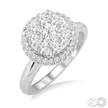Ashi Diamonds 14k White Gold Lovebright Collection Diamond Ring - 19312DJFVWG-LE