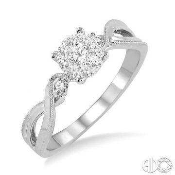 Ashi Diamonds 14k White Gold Lovebright Collection Diamond Ring - 15345DJFHWG-LE