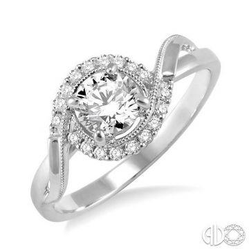 Ashi Diamonds 14k White Gold Bypass Diamond Engagement Ring - 22215DJFVWG-LE