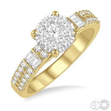 Ashi Diamonds 14k Two-Tone Gold Lovebright Collection Diamond Ring - 141E2DJFHYW