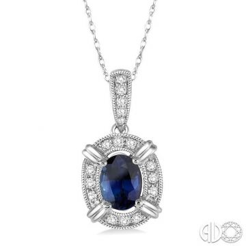 Ashi Diamonds 10k White Gold Diamond & Gemstone Pendant - 58438DJTSPDSPWG