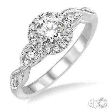 Ashi Diamonds 14k White Gold Halo Diamond Engagement Ring - 20993DJFHWG-LE