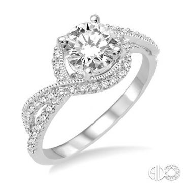 Ashi Diamonds 14k White Gold Bypass Diamond Engagement Ring - 201C2DJFHWG-LE