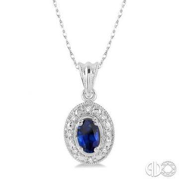 Ashi Diamonds 14k White Gold Diamond & Gemstone Pendant - 58199DJFSPDSPWG