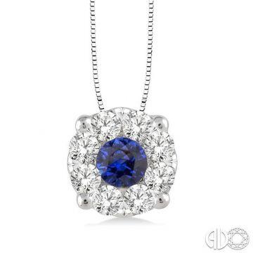 Ashi Diamonds 14k White Gold Diamond & Gemstone Pendant - 58475DJFVPDSPWG