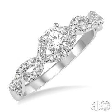 Ashi Diamonds 14k White Gold Twist Diamond Engagement Ring - 258J3DJFHWG-LE