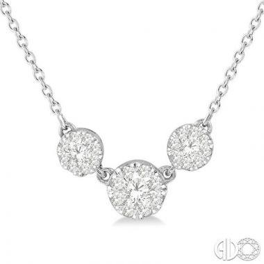 Ashi Diamonds 14k White Gold Lovebright Collection Diamond Necklace - 9972UDJFHNKWG
