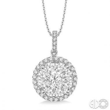 Ashi Diamonds 14k White Gold Lovebright Collection Diamond Pendant - 94910DJFVPDWG-2.00