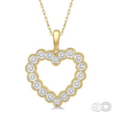 Ashi Diamonds 10k Yellow Gold Heart Collection Diamond Pendant - 98228DJTSPDYG