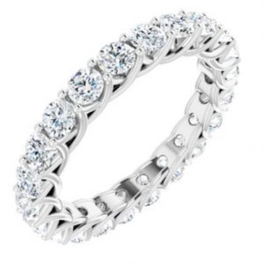 14K White 2 1/5 CTW Diamond Eternity Band