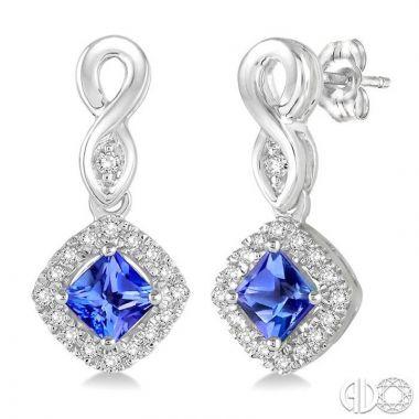 Ashi Diamonds 10k White Gold Diamond & Gemstone Drop Earrings - 57088DJTSERTZWG