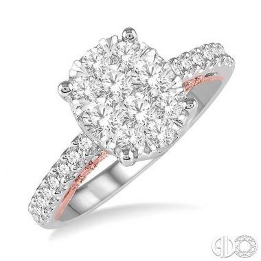 Ashi Diamonds 14k Two-Tone Gold Lovebright Collection Diamond Ring - 139E0DJFVWP-1.05