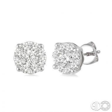 Ashi Diamonds 14k White Gold Lovebright Collection Studs Diamond Earrings - 91753DJFVERWG