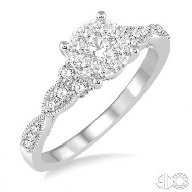 Ashi Diamonds 14k White Gold Lovebright Collection Diamond Ring - 121D3DJFVWG-LE