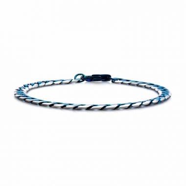 Inox Blue Stainless Steel Necklace