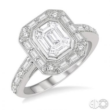 Ashi Diamonds 14k White Gold Fushion Diamonds Collection Ring - 291A1DJFVWG