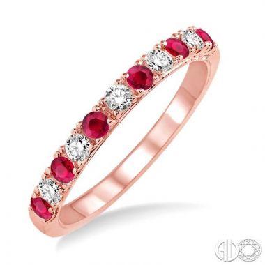 Ashi Diamonds 14k Rose Gold Diamond & Gemstone Ring - 32847DJFHRBPG