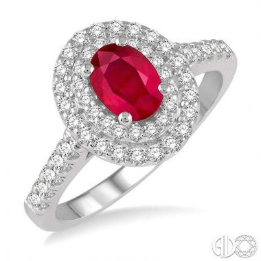 Ashi Diamonds 14k White Gold Diamond & Gemstone Ring - 41013DJFHRBWG