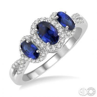 Ashi Diamonds 14k White Gold Diamond & Gemstone Ring - 44516DJFHSPWG