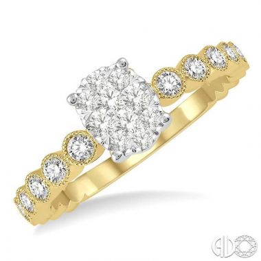 Ashi Diamonds 14k Two-Tone Gold Lovebright Collection Diamond Ring - 148D5DJFHYW