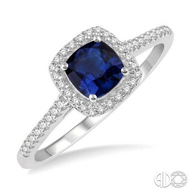 Ashi Diamonds 10k White Gold Diamond & Gemstone Ring - 42667DJTSSPWG