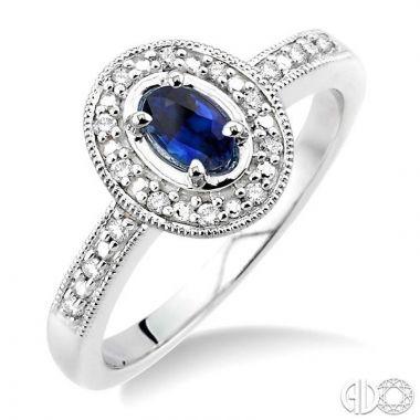 Ashi Diamonds 14k White Gold Diamond & Gemstone Ring - 42498DJFSSPWG