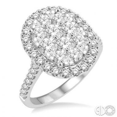 Ashi Diamonds 14k White Gold Lovebright Collection Diamond Ring - 13270DJFVWG-2.00