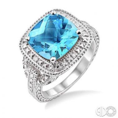 Ashi Diamonds Sterling Silver Diamond & Gemstone Ring - 88139DJSSBTSLRG