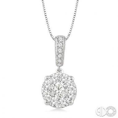 Ashi Diamonds 14k White Gold Lovebright Collection Diamond Pendant - 94893DJFVPDWG