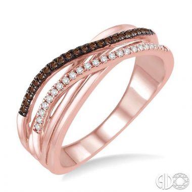 Ashi Diamonds 10k Rose Gold Champagne Collection Diamond Ring - 33857DJTSPG