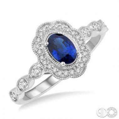 Ashi Diamonds 10k White Gold Diamond & Gemstone Ring - 40928DJTSSPWG